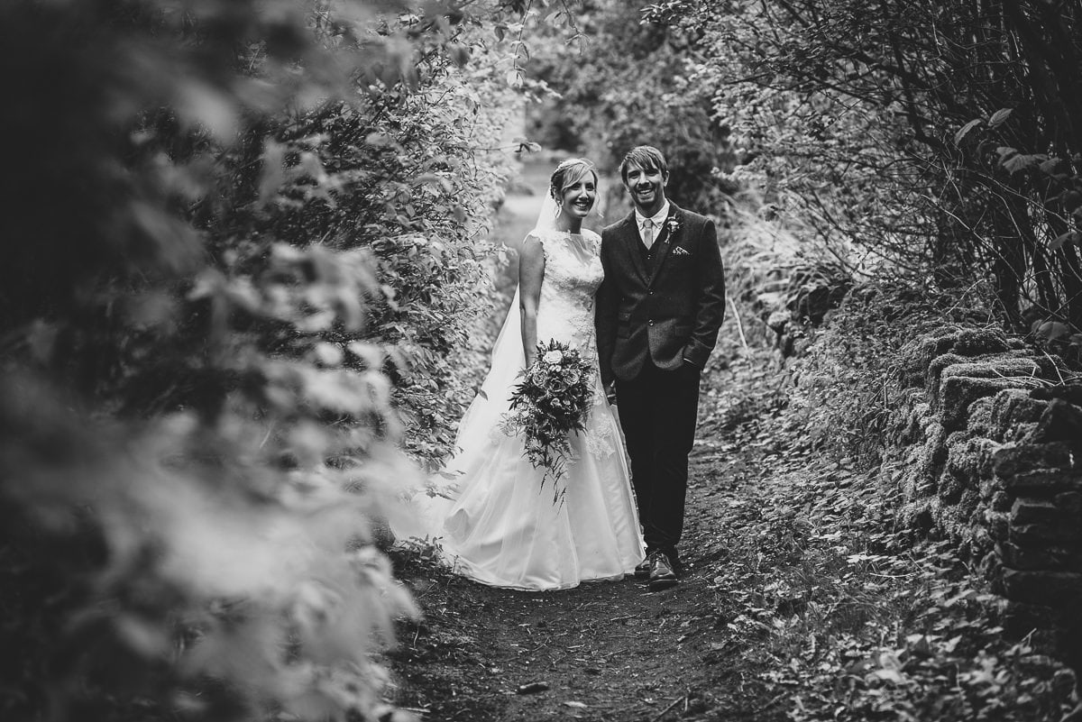 Oakwell Hall Wedding Nicola & Andy b&W portrait