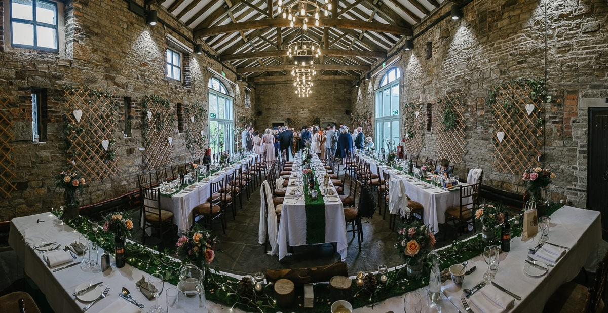 Oakwell Hall Wedding Nicola & Andy the barn