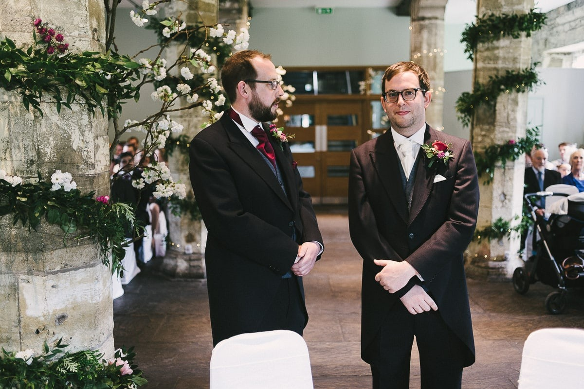 recommended wedding photographers leeds groom waiting