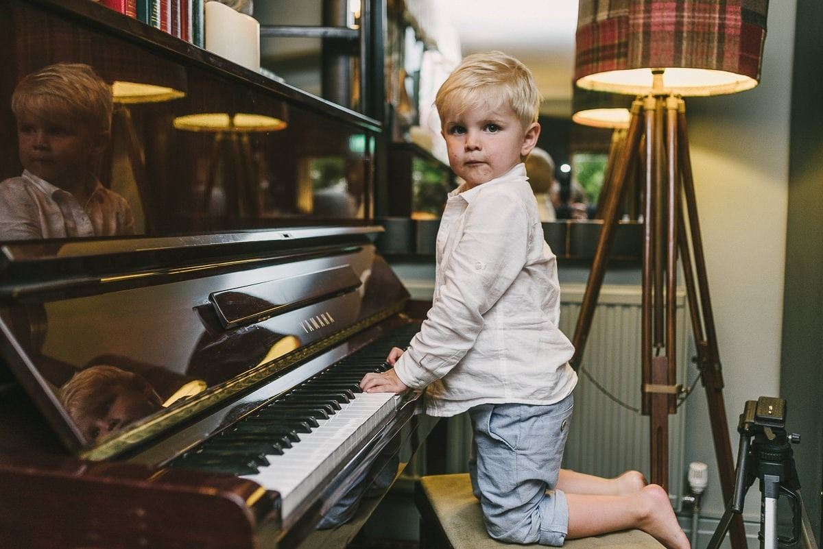 young piano player
